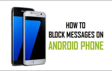 how to block a text on android