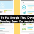 Google Play Download Pending