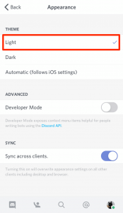 how to change discord themes mobile