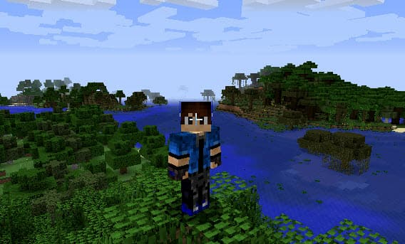 how to change minecraft skin in game