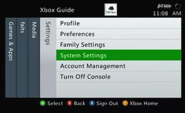 how to factory reset an xbox 360