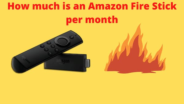 is there a monthly fee for amazon fire stick