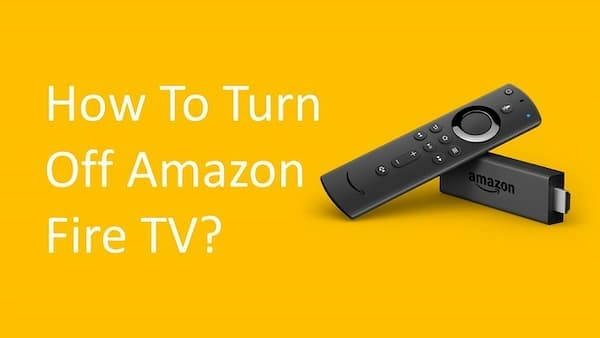 how to turn off amazon firestick